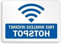 "Free Wireless Internet Hotspot  Label, 7"" x 5"