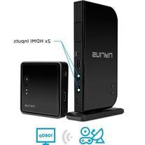 Wireless HDMI 2 Input Transmitter & Receiver; Streaming HD