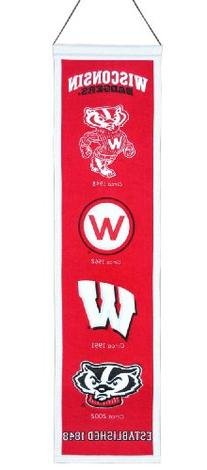 Wisconsin Badgers Official NCAA 8 inch x 32 inch Heritage