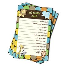 Wishes for Baby - Baby Shower Game - Jungle Themed