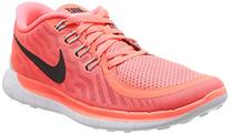 Nike Women's Free 5.0 Ht Lv/Blck/Lv Glw/Brght Crmsn Running