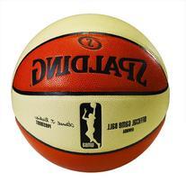 Spalding Women's WNBA Official Game Ball, Oatmeal/Orange,