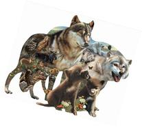 Wolf Pack a 1000-Piece Jigsaw Puzzle by Sunsout Inc