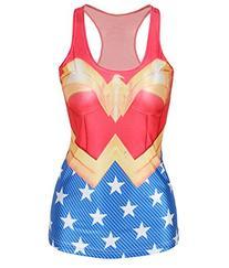 Amoluv Hot Fashion Women Wonder Woman Cape Printed