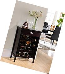 Kings Brand Furniture Wood Buffet Wine Rack Cabinet with