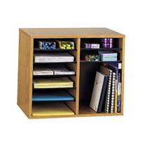 Wood Desk Organizer 12 Adjustable Compartments