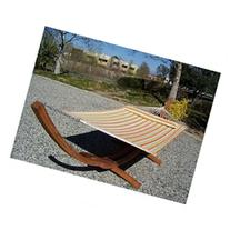 Petra's Wooden Arc Hammock Stand + Quilted Spring Color Two