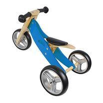 Nicko Toys - Mini 2 in 1 Blue Wooden Balance Bike Trike -