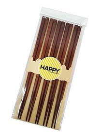 Happy Sales 5 Pairs Wooden Chopstick Set Tokyo Brown