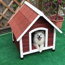Petsfit 33 X 40 X 34 Inches Wooden Medium Dog House,Pet