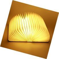 TOPCHANCES Wooden Folding LED Nightlight Book Led Light &