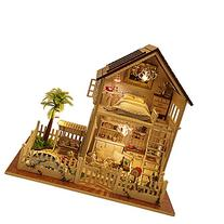 Rylai Wooden Handmade Dollhouse Miniature DIY Kit - Paris