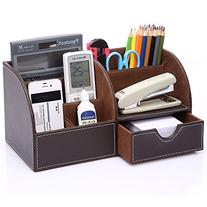 KINGOMTM 7 Storage Compartments Multifunctional PU Leather