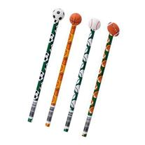 Wooden Sports Pencils With Ball Eraser 12 pack