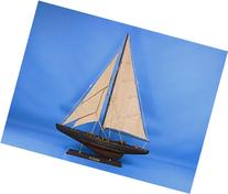 Hampton Nautical  Wooden Rustic Endeavour Yacht Sailboat