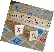 Wooden Scrabble Tile Letters Cufflinks - Personalized Gift