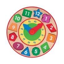 Melissa and Doug Kids Wooden Shape Sorting Learning Clock