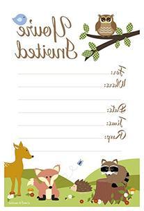 Woodland Animals Baby Shower or Birthday Invitations - Fill