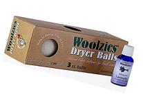 Woolzies 3 Pack XL Wool Dryer Balls Natural Fabric Laundry