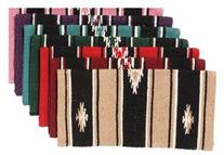 Tough 1 Wool Sierra Miniature Saddle Blanket, Red/Black
