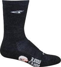 "DeFeet Woolie Boolie 6"" Sock: Charcoal; LG"