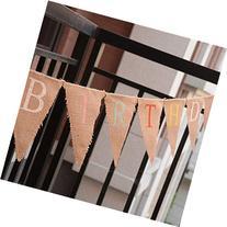 Words Happy Birthday Burlap Banner To Decorate Birthday