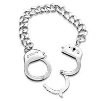 Handcuff Bracelet in Stainless Steel by Silver Phantom