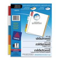 Worksaver Big Tab White Paper Dividers, Double Gold Edge, 5
