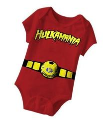 Hulkamania World Champ Costume Red Snapsuit Infant Onesie