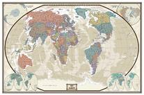 World Executive Wall Map Poster Mural