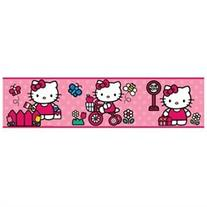 The World of Hello Kitty Peel & Stick Border Wall Decal