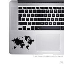 World Map - Palm Rest Sticker Decal For MacBook Pro, PC,