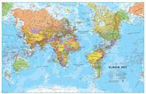 Medium World Wall Map  - Paper
