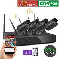 xmartO WOS1384-BK-1TB 8CH 960p HD Wireless Security Camera