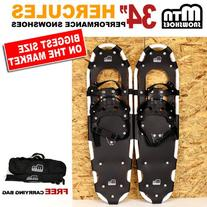 "New MTN 34"" WP White All Terrian Snowshoes up to 350 lbs +"