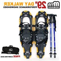 "New MTN 29"" WP All Terrian Snowshoes+ Free Carrying Bag"