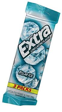 Wrigley's, Extra, Long Lasting Flavored Gum, Polar Ice, 3