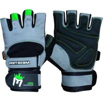 Meister Wrist Wrap Weight Lifting Gloves w/ Gel Padding -