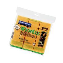 KIMBERLY-CLARK WYPALL Cloths w/Microban, Microfiber, 15-3/4