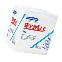 Wypall X60 Reusable Wipers  Quarterfold Washcloths, White,