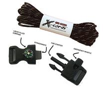 X-cords Emergency Fire Starter Buckle Contoured 1/2 to Make