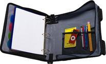 Case-it X-Hugger 2-Inch Round Ring Zipper Binder with Book