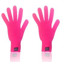 2 X PINK Heat Resistant Gloves for Flat/Curling Irons &