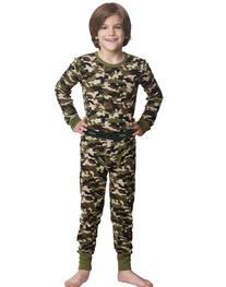 Hanes Boy's Durable Camo Thermal Set, Camo, Large