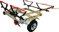 MALONE XTRALIGHT TRAILER PACKAGE w/ 2 V-KAYAK RACKS
