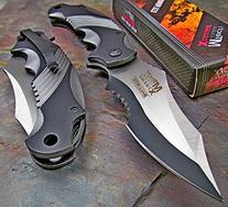 Mtech Xtreme Ballistic Black Grey Assisted Tactical Flipper