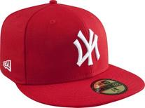 New Era Yankees Wool Baseball Cap  - red/white, 7 1/2 - 59.