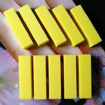 10 Pcs Yellow Color Buffer Block File for Nail Art Tips