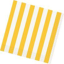 Yellow and White Stripes Small Napkins