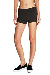 Yoga Athletic Fitness Shorts with Fold Over Waist, Junior